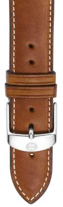 Michele 20mm Extra Long Leather Watch Strap