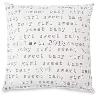 Mud Pie Sweet Baby Girl Est. 2018 Pillow