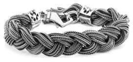 Emanuele Bicocchi Wide Sterling Silver Braided Bracelet