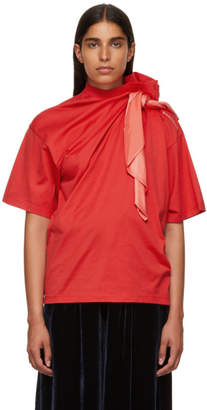 Y/Project Red Scarf T-Shirt
