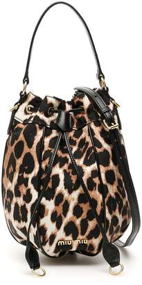 Miu Miu Animalier Bucket Bag With Charm