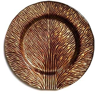 """Red Pomegranate Tree Of Life 11"""" Gold Brown Dinner Plate"""