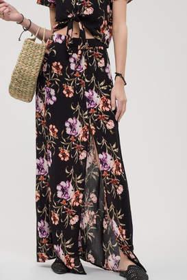 Blu Pepper Floral Maxi Skirt