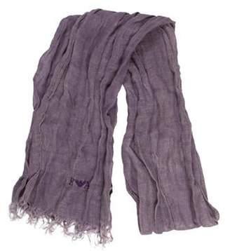 Emporio Armani Woven Fringe Scarf Purple Woven Fringe Scarf