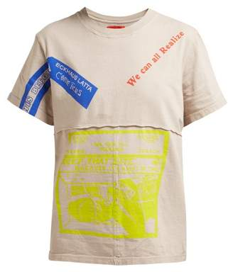 Eckhaus Latta X Come Tees Lapped Cotton T Shirt - Womens - Grey Multi