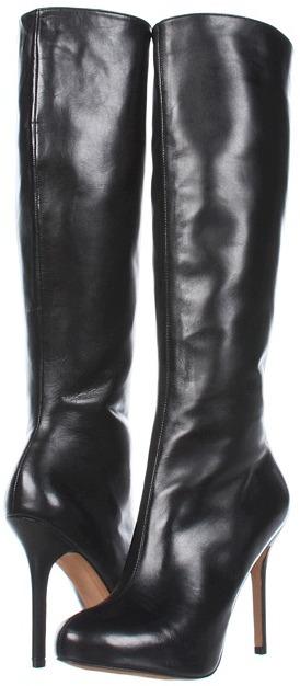 Sam Edelman Empire (Black Leather) - Footwear