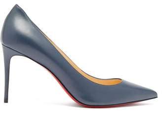 Christian Louboutin Kate 85 Leather Pumps - Womens - Navy