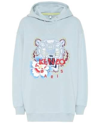 Kenzo Tiger Logo cotton hoodie