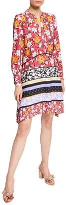 Taylor Long-Sleeve Floral-Print Shirtdress