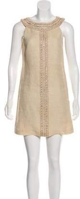 Tibi Linen Embellished Dress
