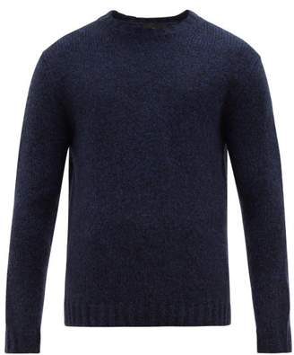Allude Crew Neck Sweater - Mens - Navy