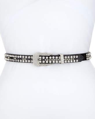 Veronica Beard Cowgirl Embellished Leather Belt