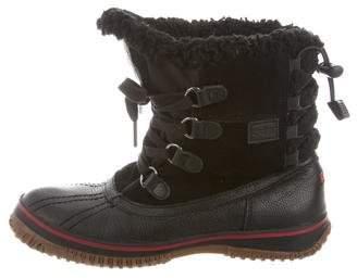 Pajar Faux Fur-Trimmed Ankle Boots