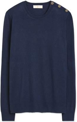 Tory Burch Logo-Button Sweater