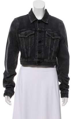 Alexander Wang Denim x Cropped Denim Jacket w/ Tags