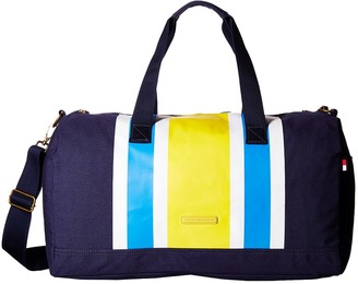 Tommy Hilfiger TH Stripes - Painted Canvas Large Duffel $128 thestylecure.com
