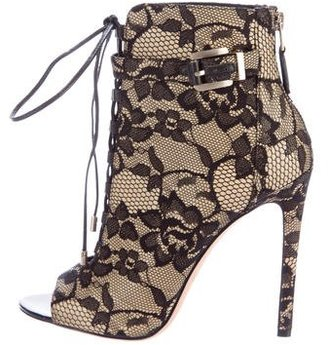 B Brian Atwood Floral Lace Booties $125 thestylecure.com