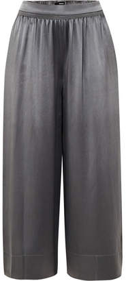 Theory Silk-satin Culottes - Gray