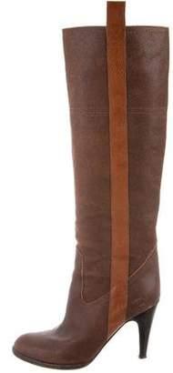 L'Autre Chose Distressed Knee-High Boots