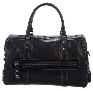 Emilio Pucci Leather Zip Satchel