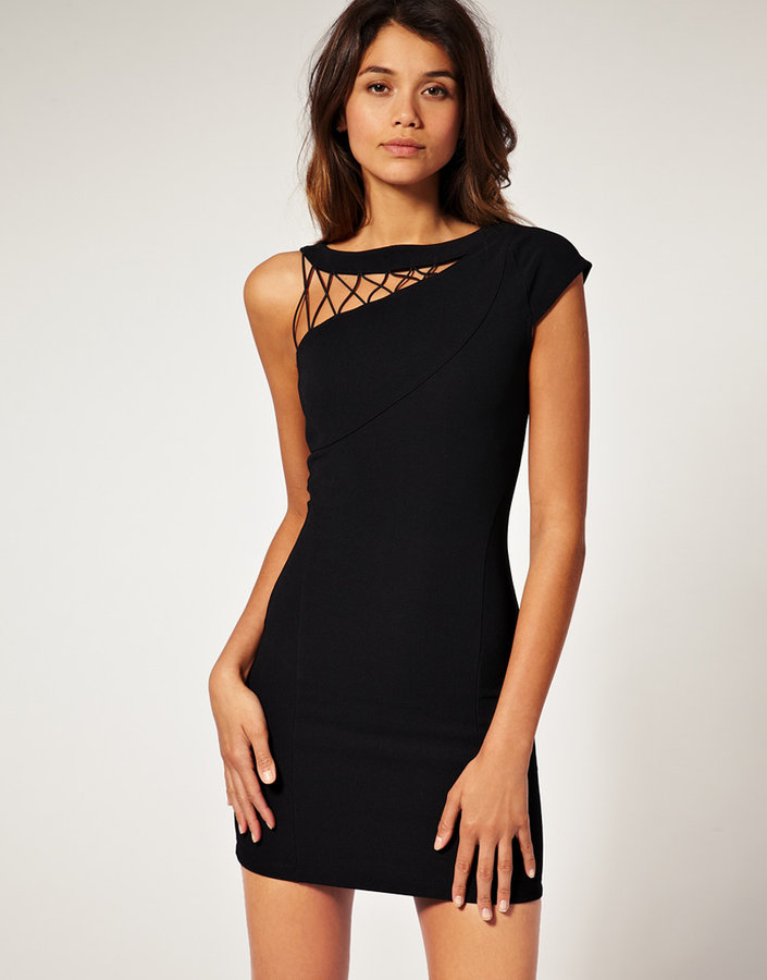 ASOS Cut Out Body-Conscious Dress with Lattice detailing