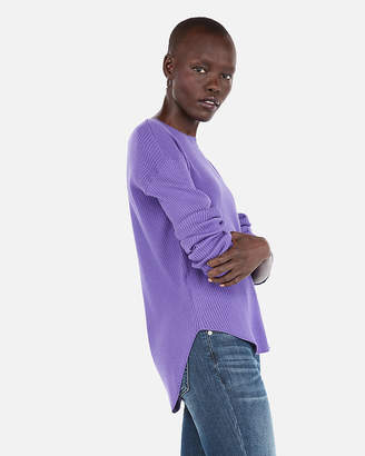 Express Ribbed Shirttail Hem Sweater