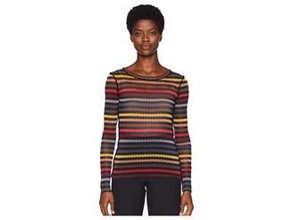 Sonia Rykiel Printed Zyggy Mesh Long Sleeve Shirt