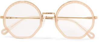 Chloé Tilda Round-frame Acetate And Gold-tone Optical Glasses