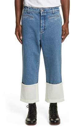 Loewe Fisherman Wide Leg Stonewash Jeans