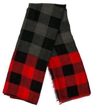Rag & Bone Check Pattern Wool Scarf