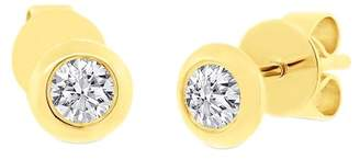 Ron Hami 14K Yellow Gold Bezel Set Diamond Stud Earrings - 0.22 ctw