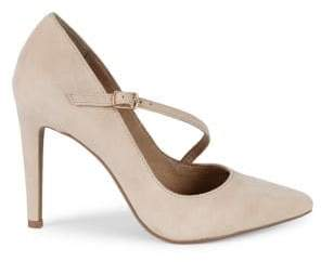 Saks Fifth Avenue Harper Cross-Strap Suede Pumps