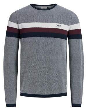 Jack and Jones Jorlabour Soft-Feel Stripe Sweater