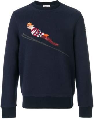 Moncler ski embroidered sweatshirt