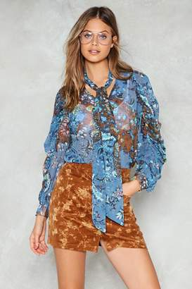 Nasty Gal Strangeness and Charm Print Blouse