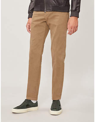 Gieves & Hawkes Tailored-fit tapered stretch-cotton chinos