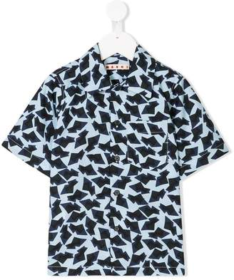 Marni abstract geometric print shirt