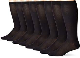 MediPEDS Men's 4 Pack Mild Compression Over The Calf Socks