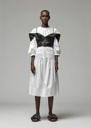 Simone Rocha Pin Tuck Long Smock Dress