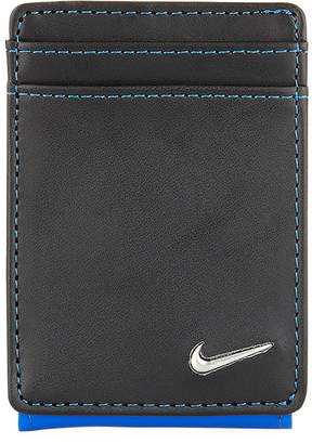 Nike Men's Colorblock Leather Wallet, Blue/Black