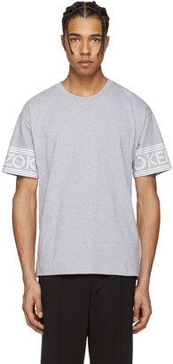 Kenzo Grey Logo Sleeves T-Shirt $160 thestylecure.com
