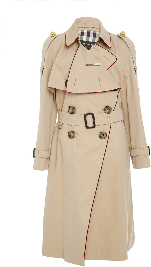 Burberry Asymmetrical Drape Trenchcoat