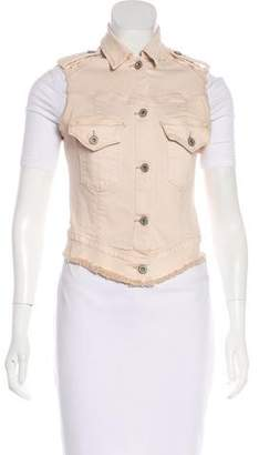 James Jeans Button-Up Denim Vest