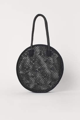 H&M Round Straw Bag - Black