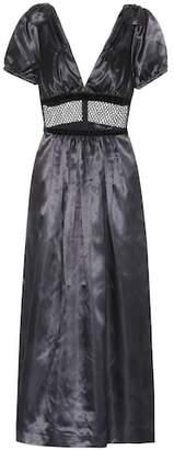 ALEXACHUNG Satin dress