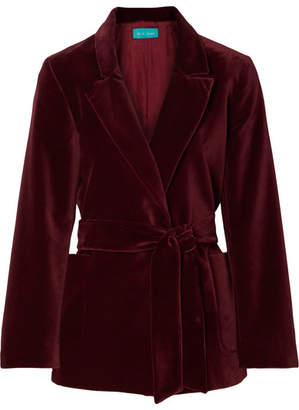 MiH Jeans Robin Cotton-velvet Blazer - Burgundy