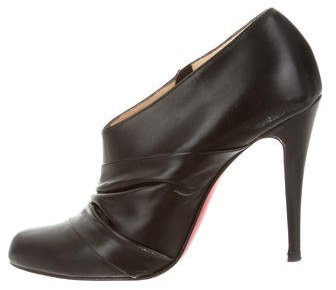 Christian Louboutin  Christian Louboutin Leather Pleated Booties