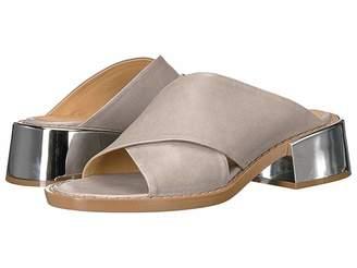 MM6 MAISON MARGIELA Metallic Wide Heel Mule Women's Clog/Mule Shoes