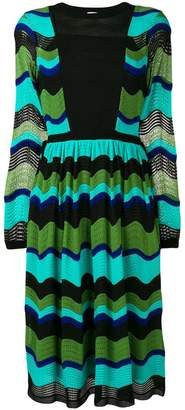 M Missoni knitted mid-length dress