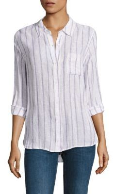 Rails Charli Linen Striped Shirt $148 thestylecure.com